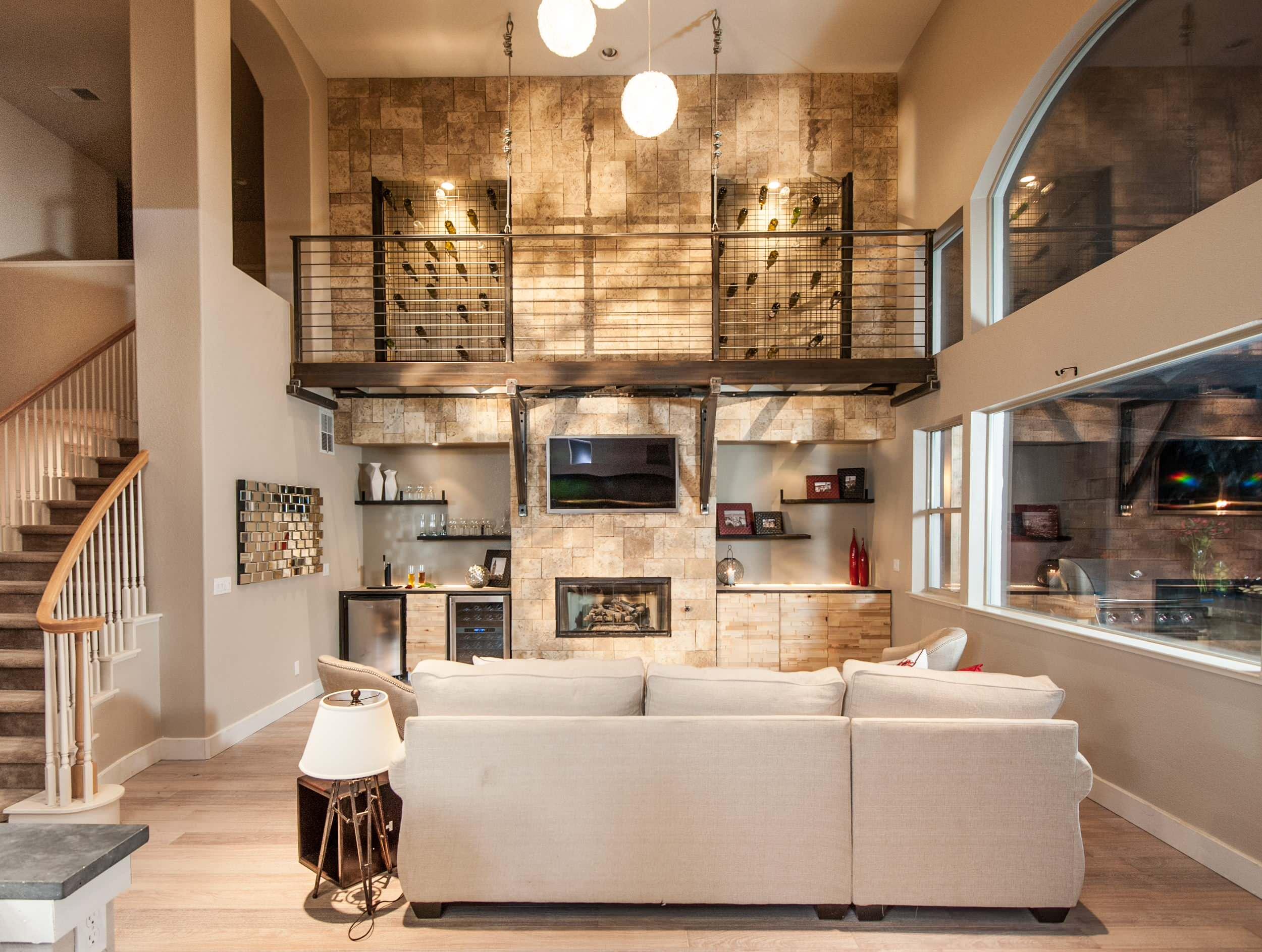 Living Room Wine Racks Houzz, Wine Rack Ideas Living Room