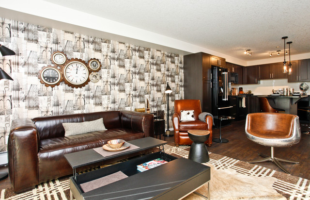 Man Cave Furniture Calgary : Ultimate man cave transitional living room calgary
