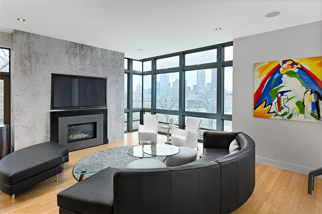 Ultra modern loft modern living room other by for Ultra modern living room ideas