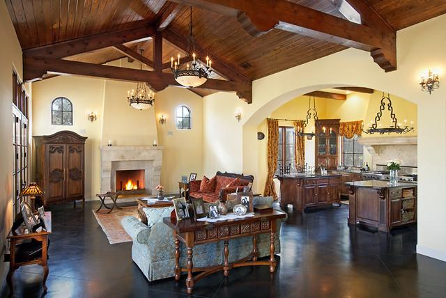 Spanish Oaks Lot 5 mediterranean-living-room
