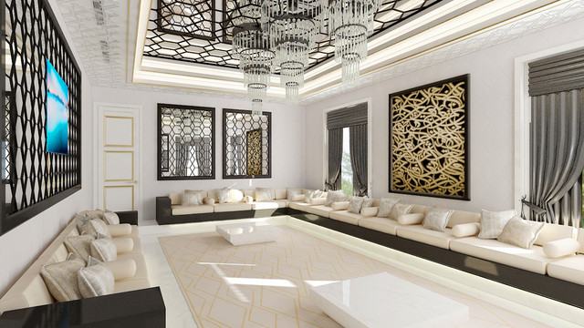United Arab Emirates   Beautiful Modern Villa   Majlis Modern Living Room