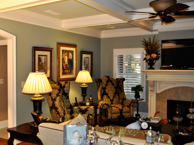 Updated Interior Living Room Dining Room Kitchen With Faux Painted Cabinets Traditional