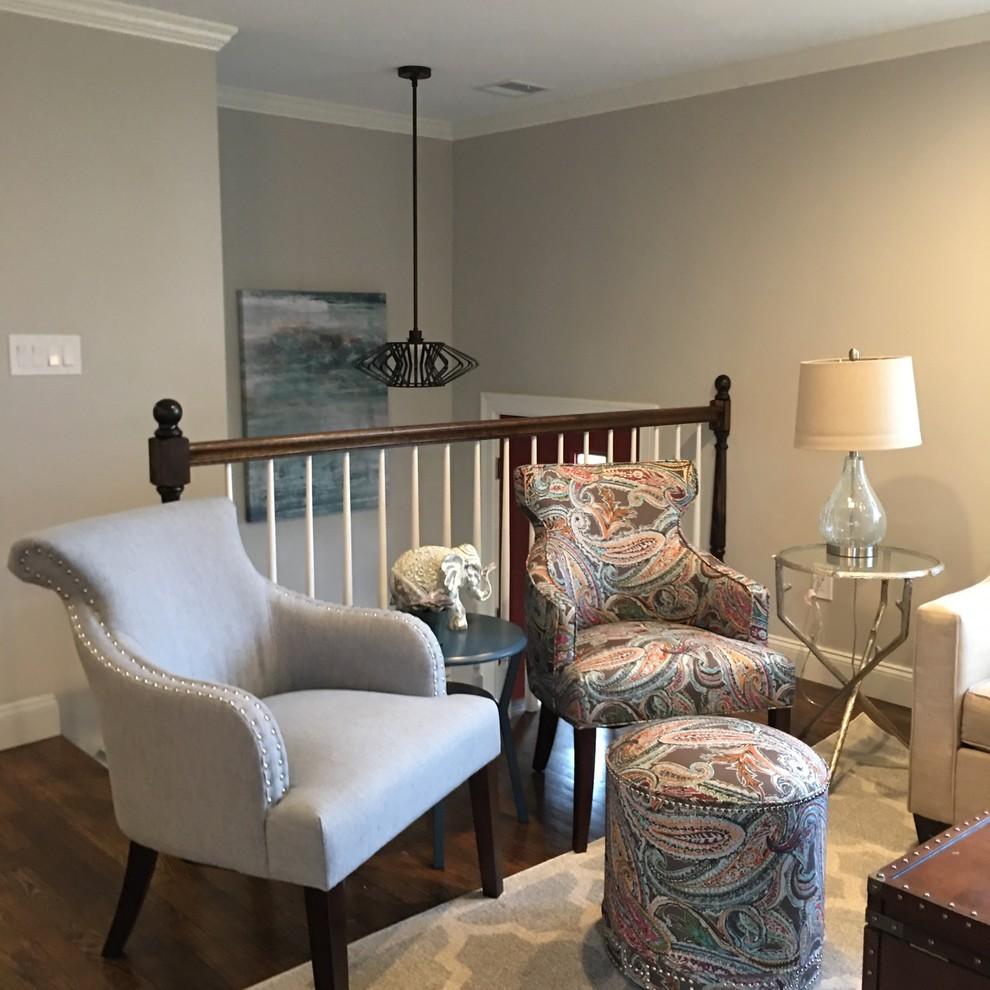 updated split level  contemporary  living room  boston