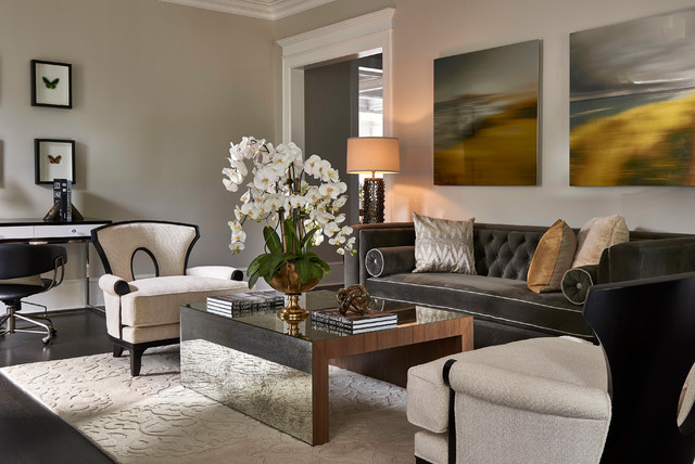 Updated Traditional Home Formal Living Room Transitional