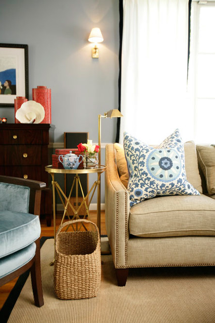 Updated Traditional contemporary-living-room