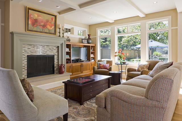 Updated Traditional Living Room eclectic-living-room
