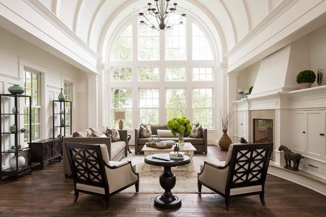 Updated Traditional Living Room Klisk Vardagsrum