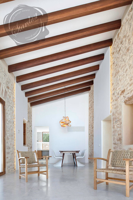 Updating a Rustic Spanish Farmhouse with Contemporary Design  contemporary living room. Updating a Rustic Spanish Farmhouse with Contemporary Design