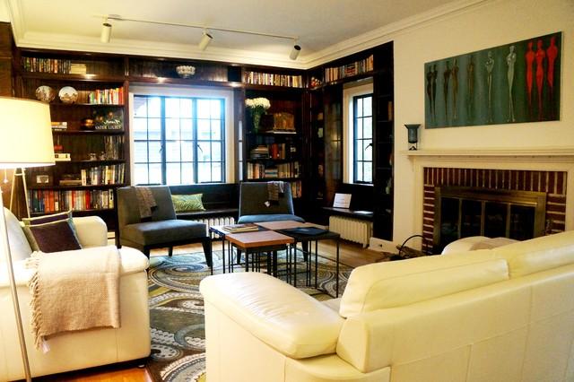 Updating an Albert Kahn Designed Home traditional-living-room