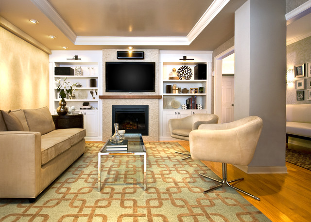 Upper East Side contemporary-living-room