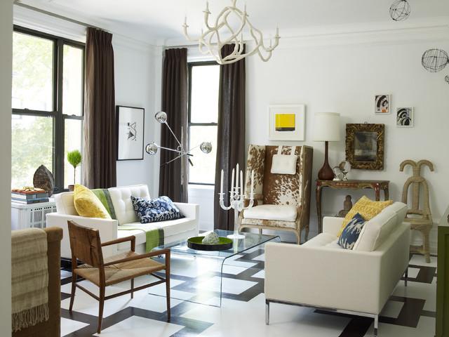 Upper East Side Living Room Eclectic Living Room New