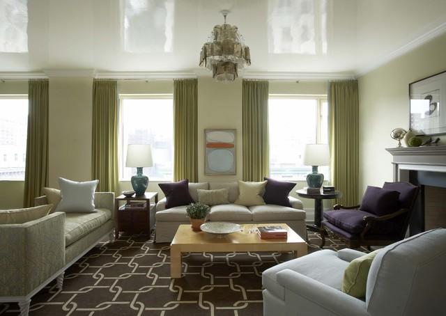 Upper East Side, NY Residence transitional-living-room