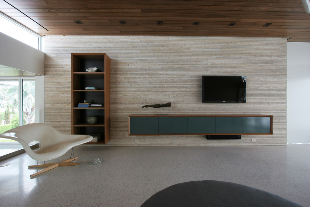 Inspiration for a modern living room remodel in Miami