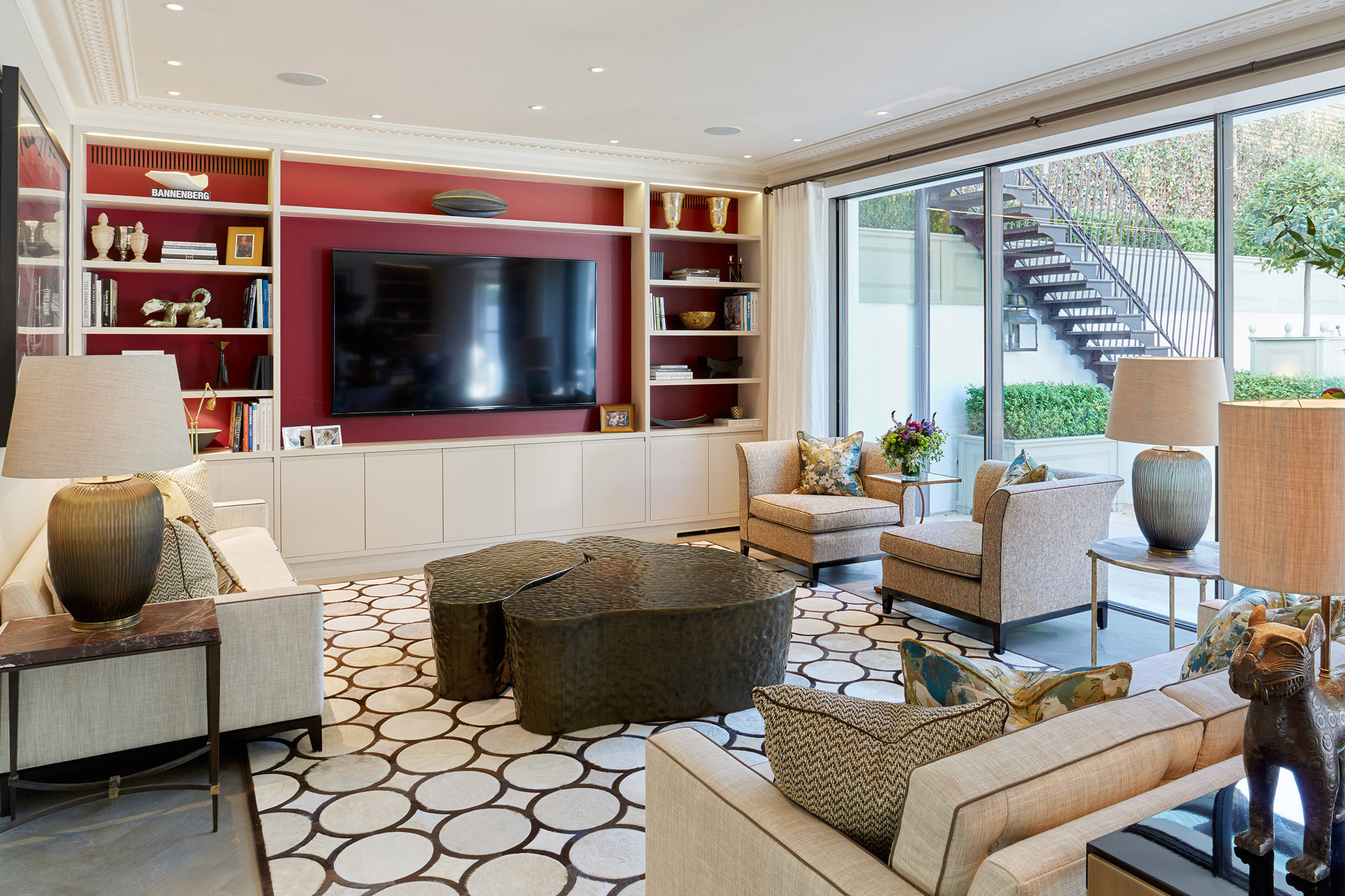 75 Beautiful Living Room With Red Walls Pictures Ideas January 2021 Houzz