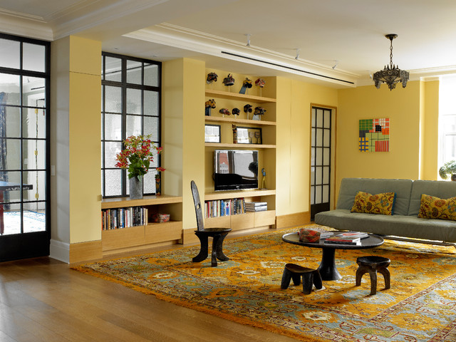 Upper West Side Classic 6 Contemporary Living Room Other Metro By Rusk Renovations