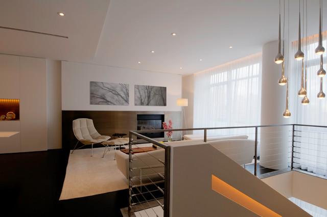 Upper West Side Duplex Modern Living Room New York