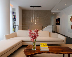 Upper West Side Duplex modern living room