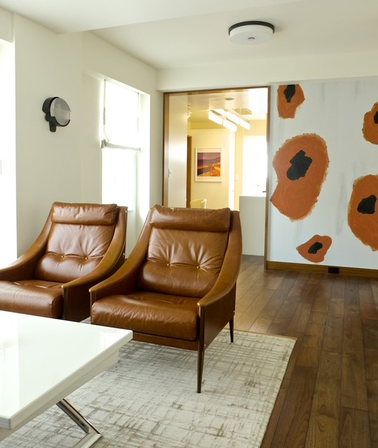 Upper West Side Pied terre Contemporary Living Room