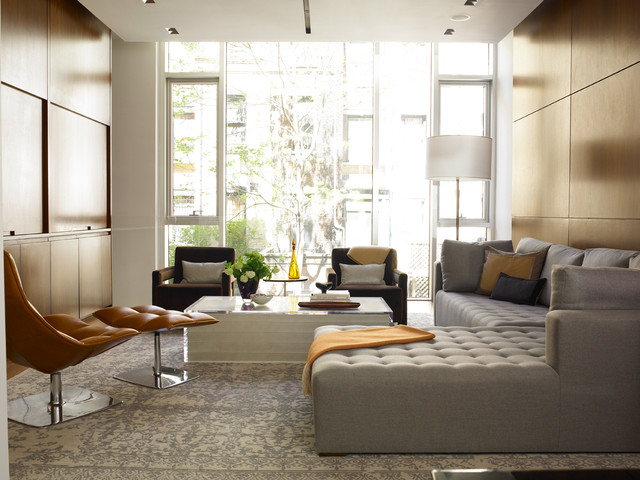 Upper West Side Residence contemporary living room