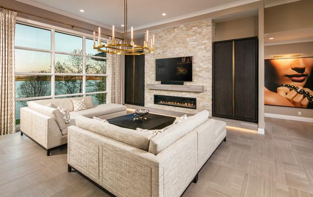 Upscale Transitional Home   Bennington, NE Transitional Living Room