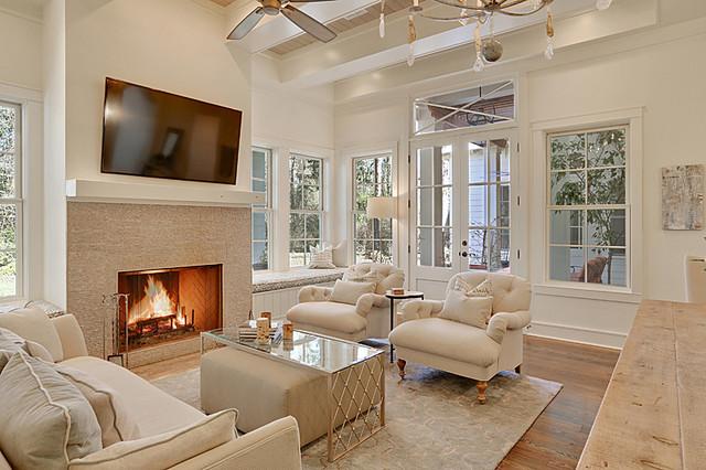 Upton Home Tchefuncte Traditional Living Room New Orleans By Maison De Reve Builders Llc