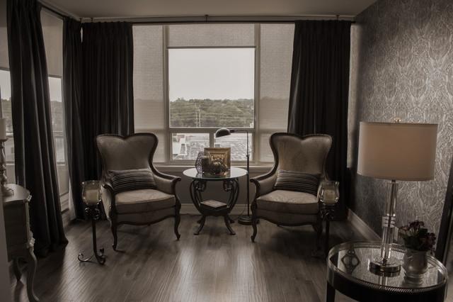 Uptown Condo contemporary-living-room