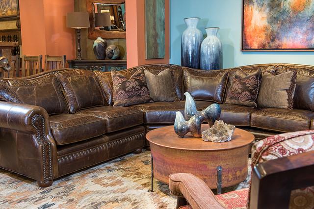 Uptown elegance rustic living room dallas by the for Rustic elegant living room