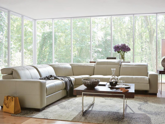Uptown Living Room With Downtown Comfort Contemporary Living Room Detro