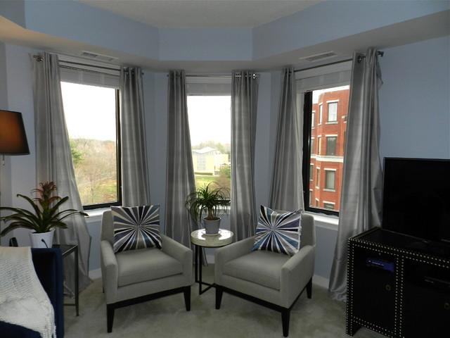Urban Bachelor Pad modern-living-room