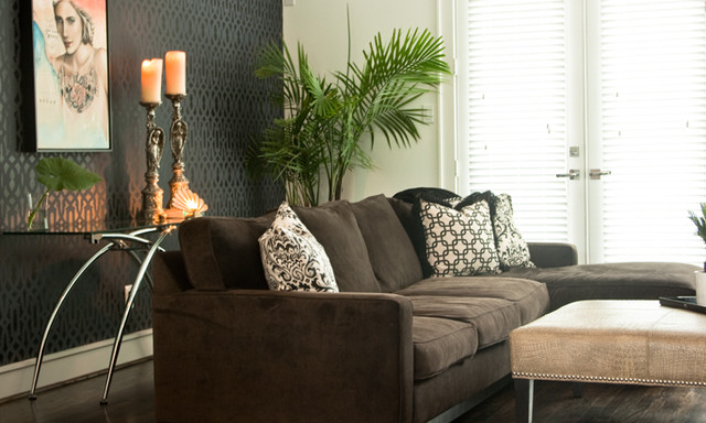 Urban chic contemporary living room houston by missy stewart designs Contemporary urban living room