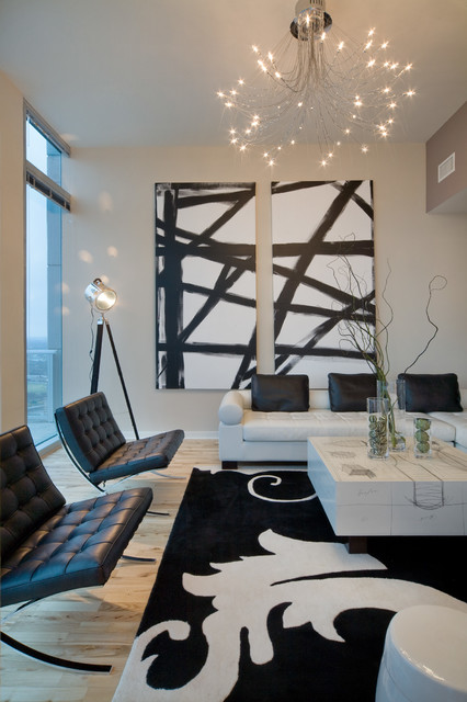 Urban chic Contemporary urban living room