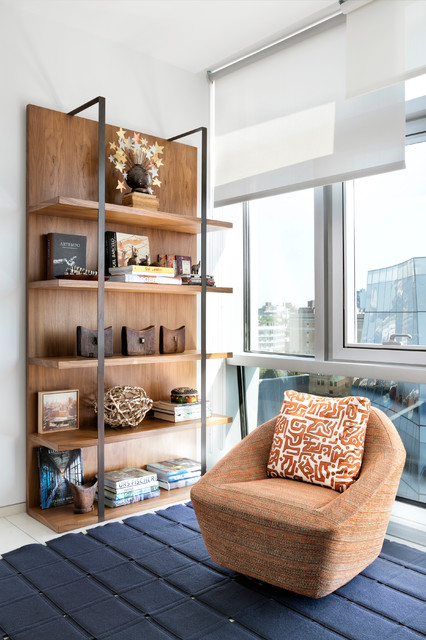Urban contemporary contemporary living room new york by interieurs by francine gardner Contemporary urban living room