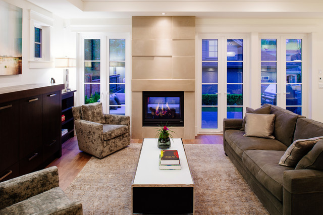 Urban Contemporary Transitional Living Room Vancouver By Rockridge Fine Homes