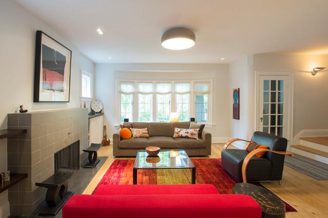 Urban Cooks' Home contemporary-living-room