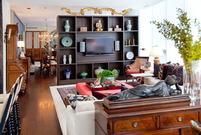 Urban Eclectic Asian Living Room