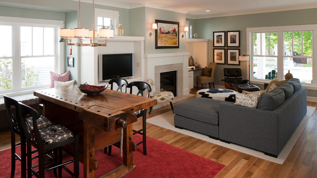 Urban Farmhouse Farmhouse Living Room