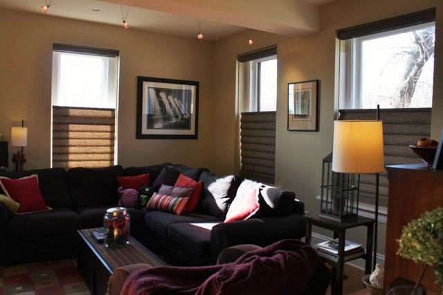 urban living room modern living room chicago by