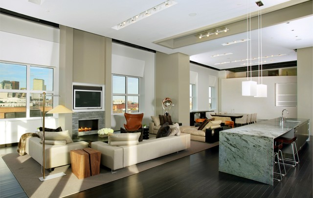 Urban living xxl contemporary living room boston by ruhl walker architects Contemporary urban living room