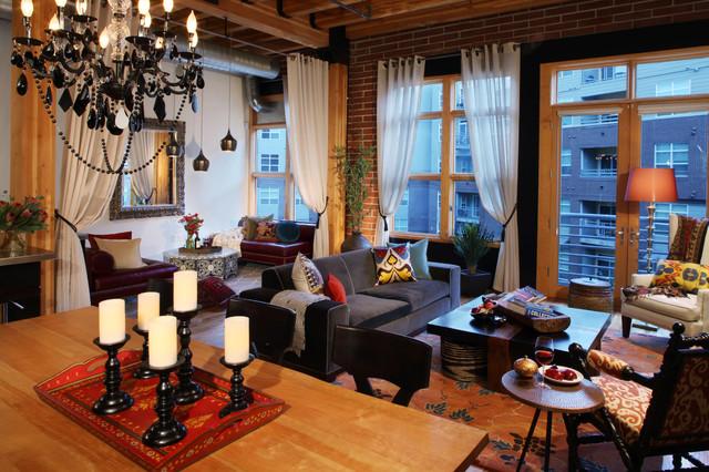 Urban loft traditional living room denver by for Urban living room design