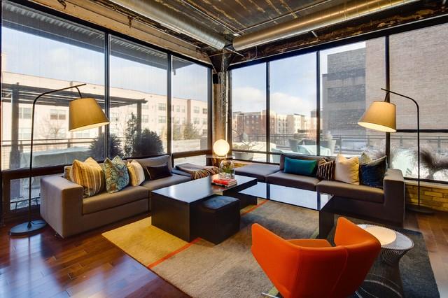 Urban Loft industrial-living-room