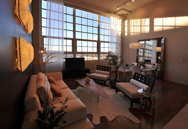 Urban loft fort worth tx contemporary living room dallas by wintercreative interior Contemporary urban living room