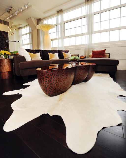 Urban Loft Residence Fort Worth TX Contemporary Living Room