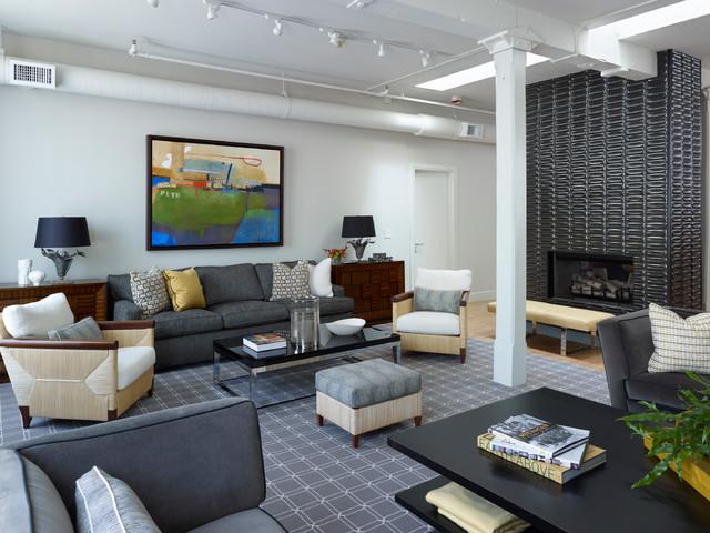 Urban Loft Residence - Industrial - Living Room - Chicago - by Tom ...