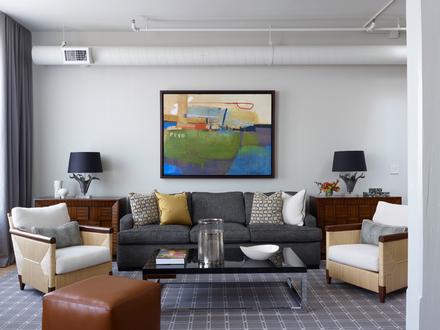 Urban Loft Residence Contemporary Living Room Other