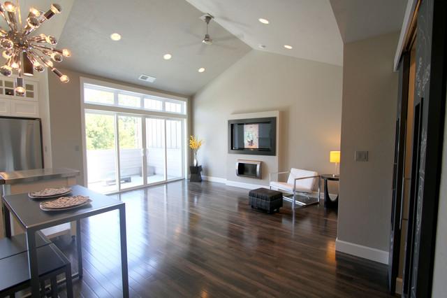 Urban Loft style living area transitional-living-room