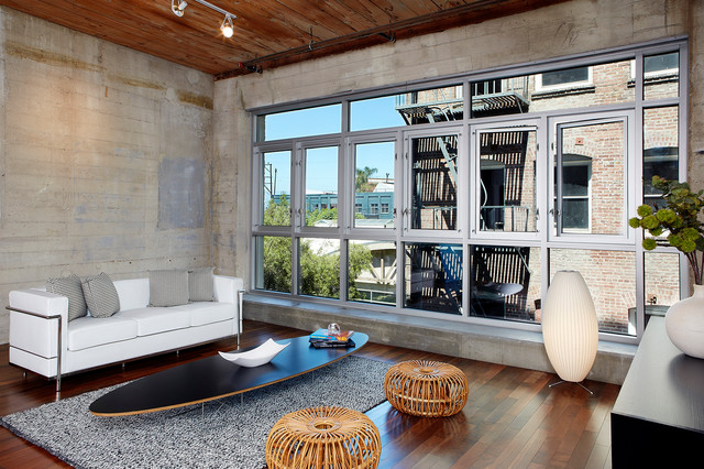 Urban loft industrial living room los angeles by for Family room los angeles