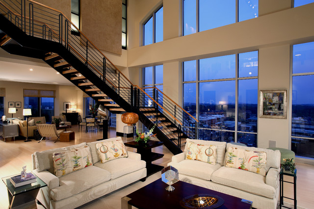 cool modern luxury penthouse living room | Urban Penthouse Living Room - Modern - Living Room ...