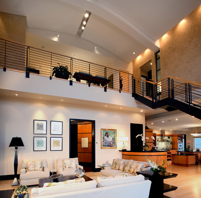 Urban penthouse loft modern living room atlanta by ls3p neal prince studio Contemporary urban living room