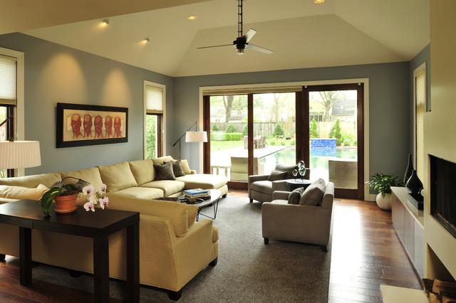 urban transitional residence transitional living room