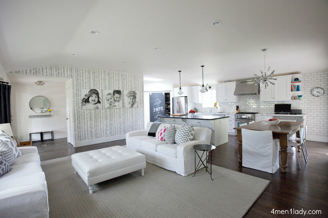 Utah Remodeled Kitchen, Living, Dining (Great Room). contemporary-living-room